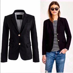 ⬇️J. CREW Schoolboy Style Blazer Wool Jacket Black